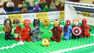 LEGO Superhero Avengers vs Justice League Football Championship