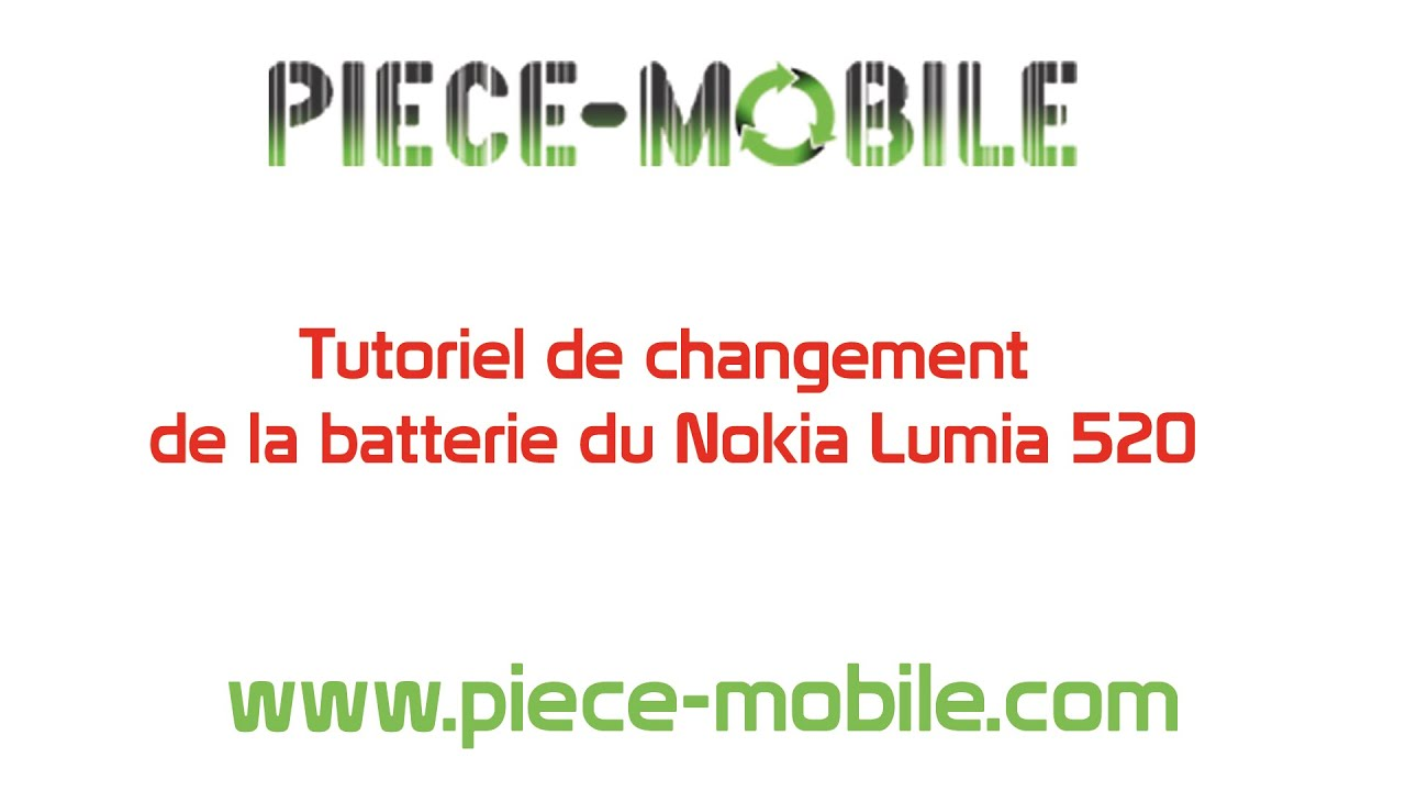 changement de batterie nokia lumia 520 youtube. Black Bedroom Furniture Sets. Home Design Ideas