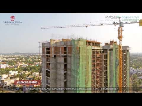 Chennai Real-Estate Construction Status - Aerial View Video