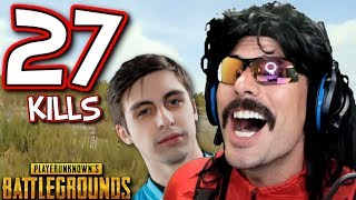"DrDisRespect and Shroud's ""27-KiII Duo Game"" on Battlegrounds!"