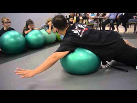 Martial Arts School In Las Vegas, Nevada Teaches Kids An Exercise Class - Part 1