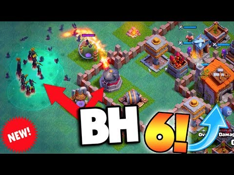 "NEW BUILDER'S HALL 6 CLASH OF CLANS UPDATE! NEW NIGHT WITCH TROOP + NEW ""ROASTER"" DEFENSE! SO OP!"