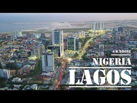 Lagos  Nigeria - fly Victoria Island &  Eko Atlantic  [4 k ULTRA HD drone footage] (2019)