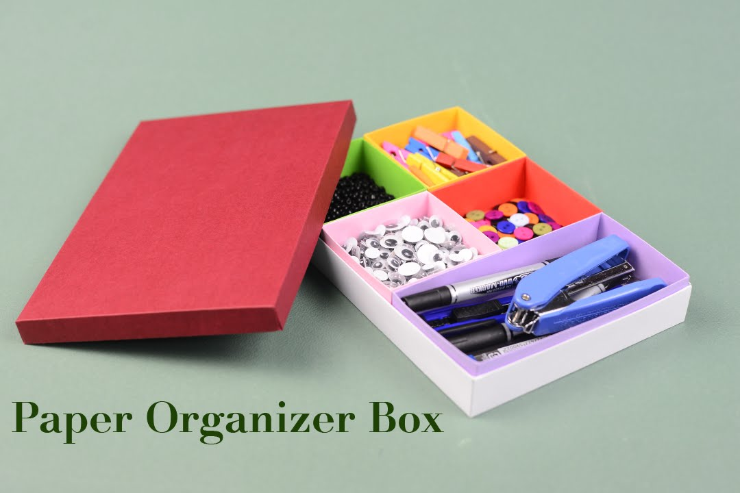 DIY How To Make Paper Organizer Box Tutorial