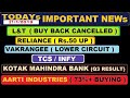 (L&T) (Vakrangee) (Reliance) (TCS) (Infy) (kotak mahindra Bank) (Aarti industries) update by SMkC