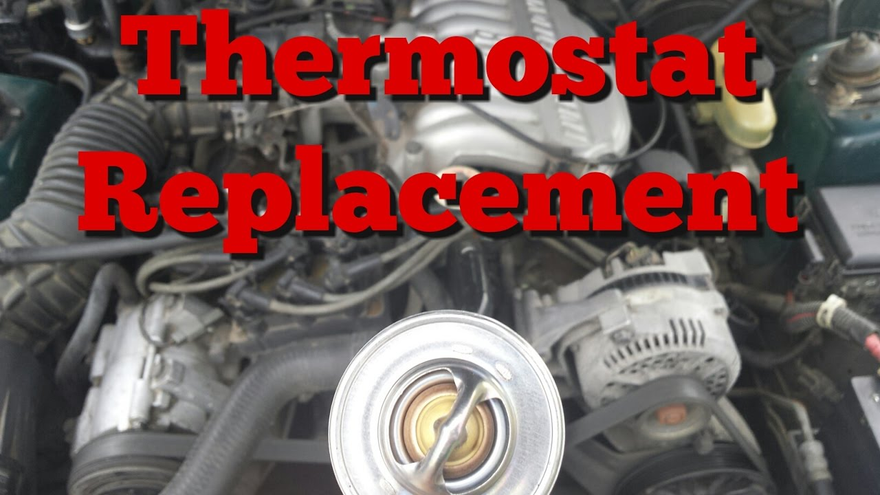 thermostat replacement 94 95 mustang v6 [ 1280 x 720 Pixel ]