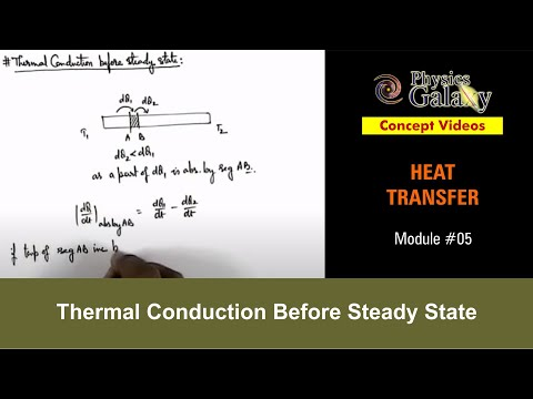 5. Physics | Heat Transfer  | Thermal Conduction Before Steady State | by Ashish Arora