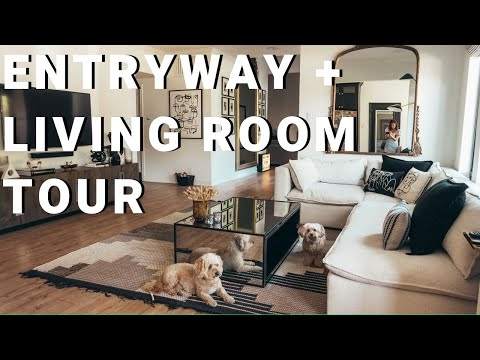 Entryway & Living Room Tour + GIVEAWAY!