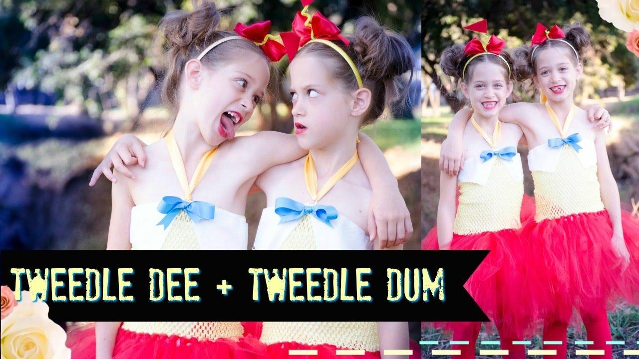 Diy tweedle dee and dum costume no sew tutus youtube solutioingenieria Image collections