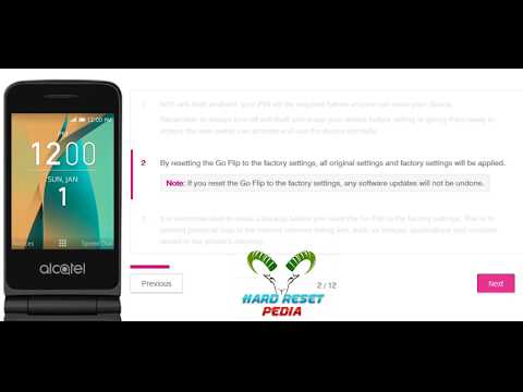 ☑️ Alcatel Go Flip Factory Reset Offical - YouTube