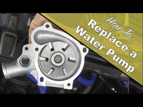How to Install a Water Pump – Volvo 240 B230F