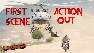 Sooryavanshi First Action Scene Out ! Akshay Kumar Hangs From Helicopter To Catch Rohit Shetty