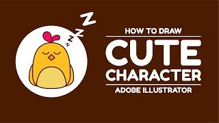 How to draw a cute character on adobe illustrator