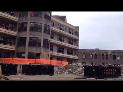 Demolition Of Goldwater Hospital For New Roosevelt Island Cornell NYC Tech Campus