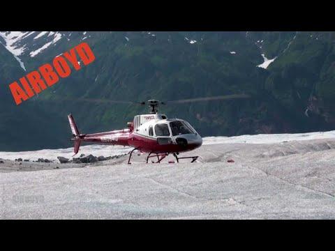 Temsco AS350 Takeoff Mendenhall Glacier