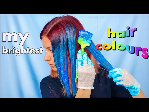 All the brightest hair colours I ever tried