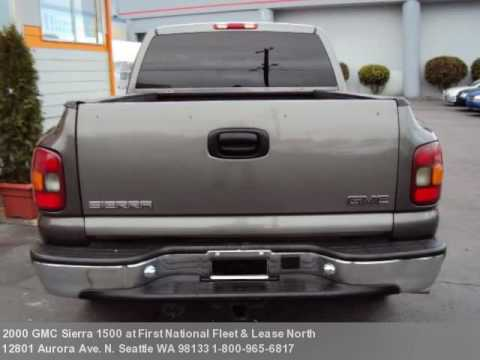 2000 gmc sierra 1500 6995 at first national fleet lease youtube. Black Bedroom Furniture Sets. Home Design Ideas