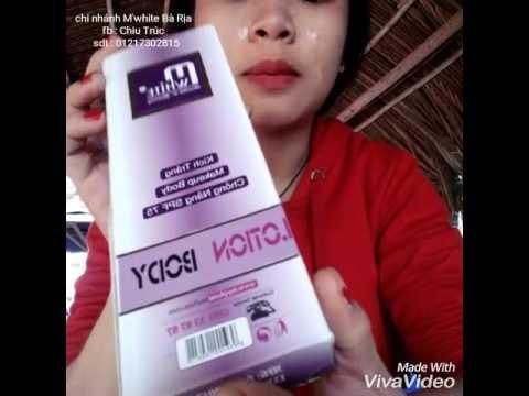 Body lotion M'white -01217302815 fb : Chiu Trúc