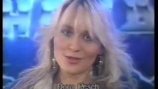 Doro Pesch - Interview on German TV Tele 5 , 1990