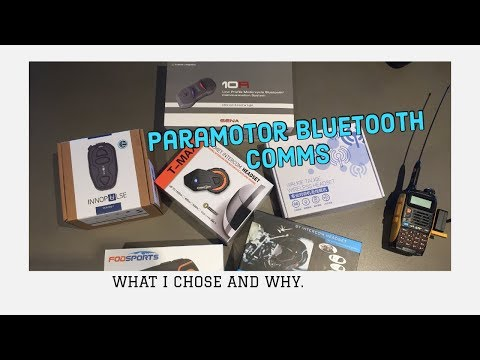 Paramotor Helmet Bluetooth Options
