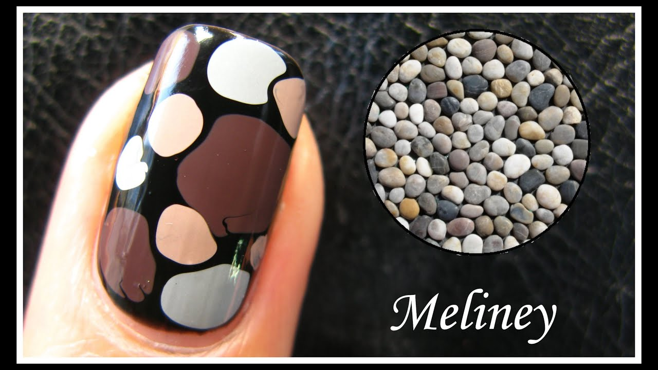 Easy pebble nail art tutorial no tools required how to basics easy pebble nail art tutorial no tools required how to basics stone design technique beginners youtube prinsesfo Images
