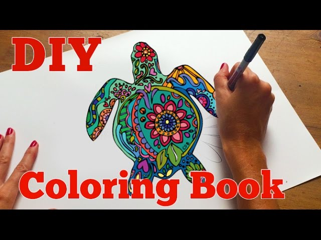 How To Make An Adult Coloring Book DIY Coloring Book - YouTube