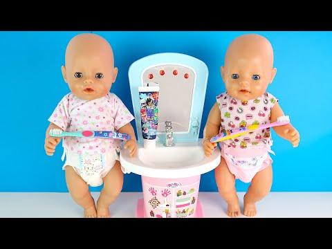 Спокойной Ночи Беби Бон! Двойняшки Не Хотят Спать! Как Мама Укладывала В Кроватку Куклы Пупсики 1