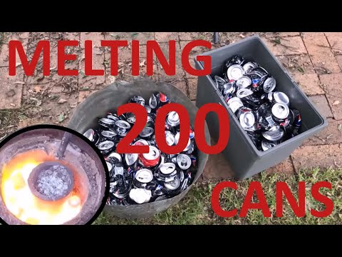 Melting 200 aluminium cans
