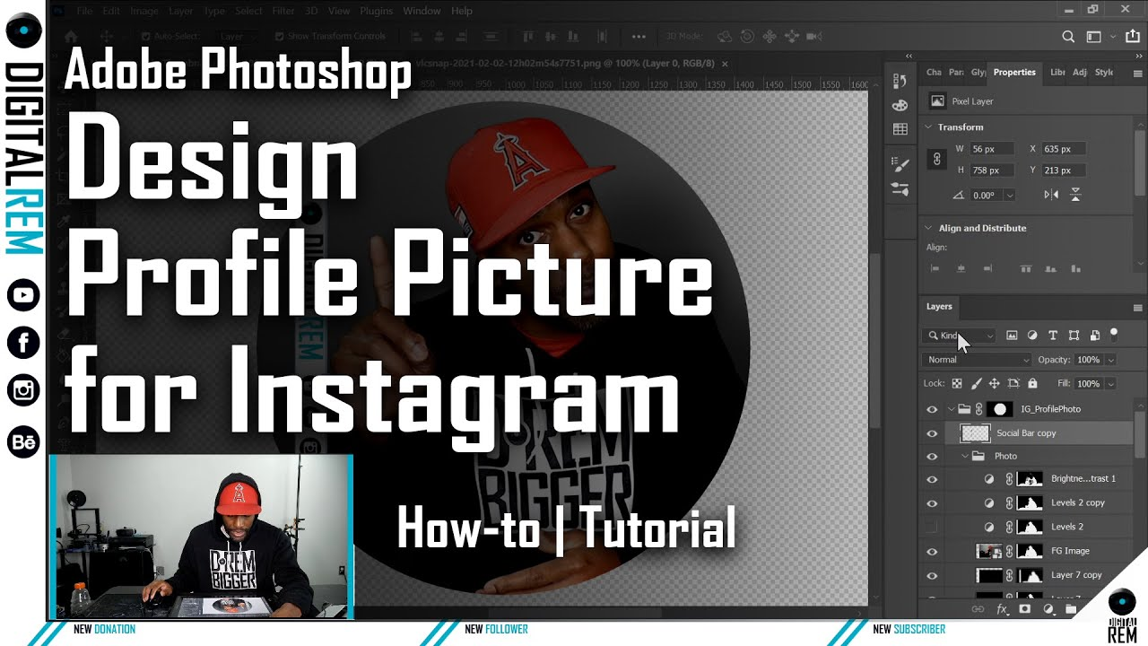 How To Design an Instagram Profile Picture | Digital REM Production