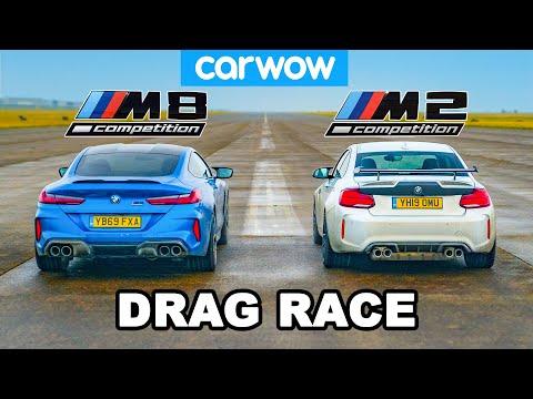 Bmw M8 Vs M2 Drag Race David Vs Goliath Youtube