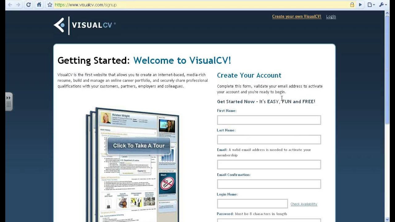 How To Create A Visual Cv In Under 5 Minutes By Icttoolbox From Screenr Com