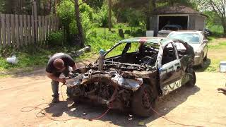 lets do a v6 to a 4 cylinder swap in a budy toyota camry part 1