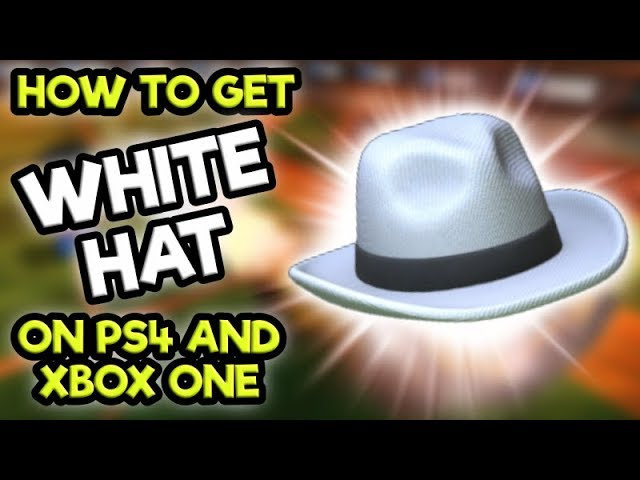 How To Get The *WHITE HAT* on PS4 and XBOX ONE!! (Rocket League Tips)