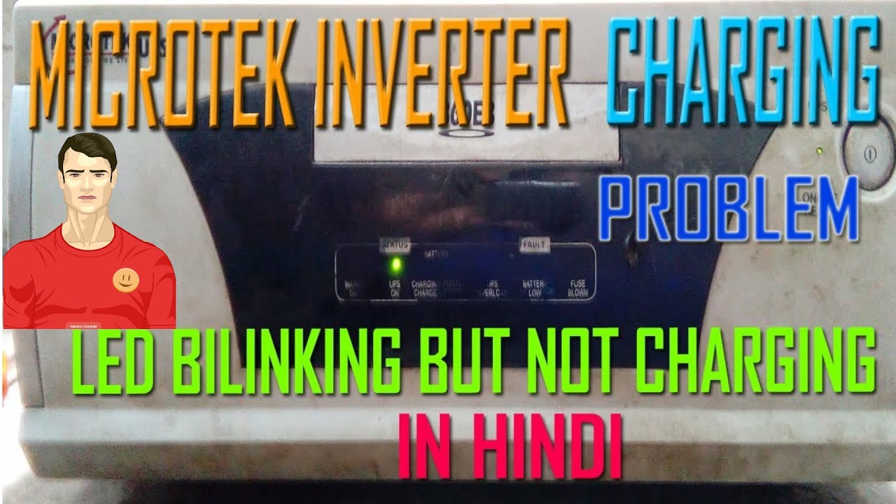 Microtek Inverter Charging Problem Led Bilinking But Not Mains Voltage Indicator With A Batteryok Ac Ok