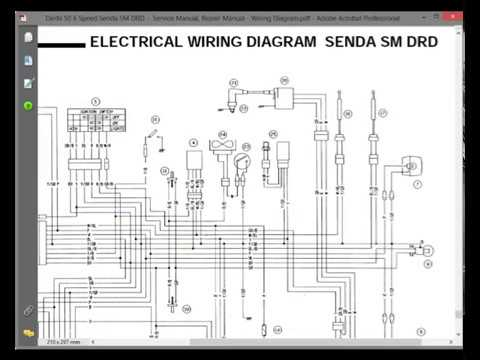 [DIAGRAM_0HG]  Derbi 50 6 Speed Senda SM DRD - Service Manual / Repair Manual - Wiring  Diagram - YouTube | Derbi Senda Wiring Diagram |  | YouTube