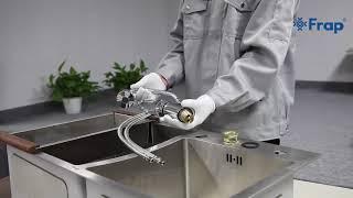 Обзор, сборка и установка смесителя на кухню FRAP F4303 с гибким изливом