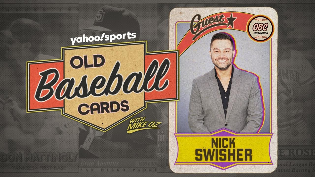 Nick Swisher Tries For His Dads Card Old Baseball Cards