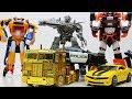 Optimus Prime vs Megatron Transformers Animation - Bumblebee Tobot Robot Lego Robbery Museum & Mummy