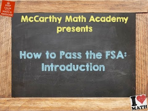 How to Pass the Math FSA: Introduction