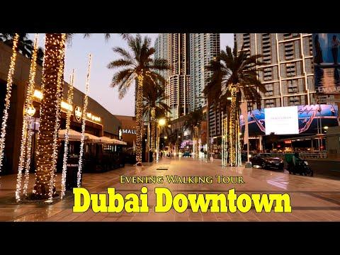 Dubai Mall Metro Station to Downtown Walking Tour July 9, 2021