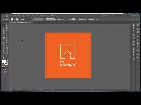 Housing logo design tutorial in Illustrator CC 2019 thumbnail
