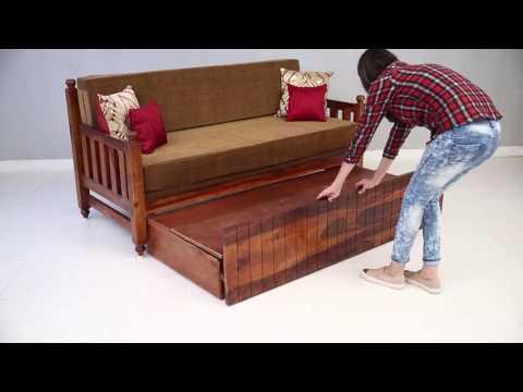 sofa cum bed - Erika Sofa Cum Bed Online @ Wooden Street