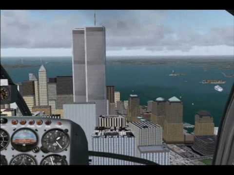 Helicopter flight over Manhattan Island v2.0