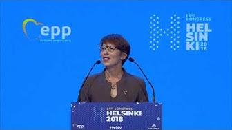 EPP Helsinki Congress - Sari ESSAYAH, President of KD