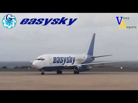 Easysky Boeing 737-200 in action @ Argyle International Airport