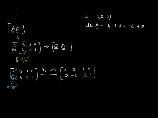 Inverz mátrix számítása Gauss-Jordan-eliminációval