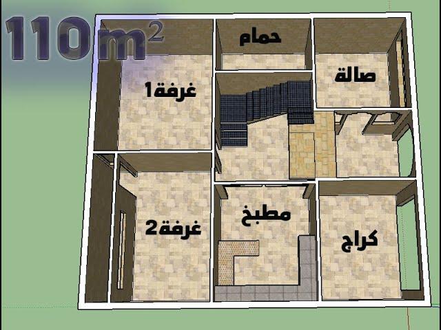 تصميم منزل مساحة 110 متر مربع أبعاد 10 متر على 11 متر الطابق الارضي Youtube