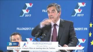 Primaire à droite : François Fillon en meeting dans les Yvelines