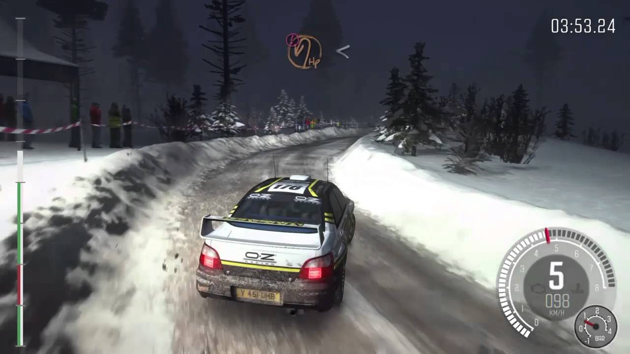 dirt rally ps4 gameplay subaru impreza wrc sweden night. Black Bedroom Furniture Sets. Home Design Ideas