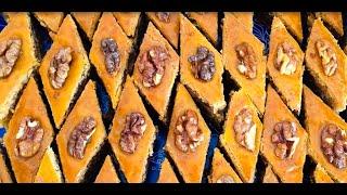 Пахлава / простой рецепт(Тесто: сметана-250мл желток - 4шт сливочное масло - 300 гр сахарный песок - 250гр мука - 800гр (примерно 4 стакана)..., 2015-06-09T22:12:37.000Z)